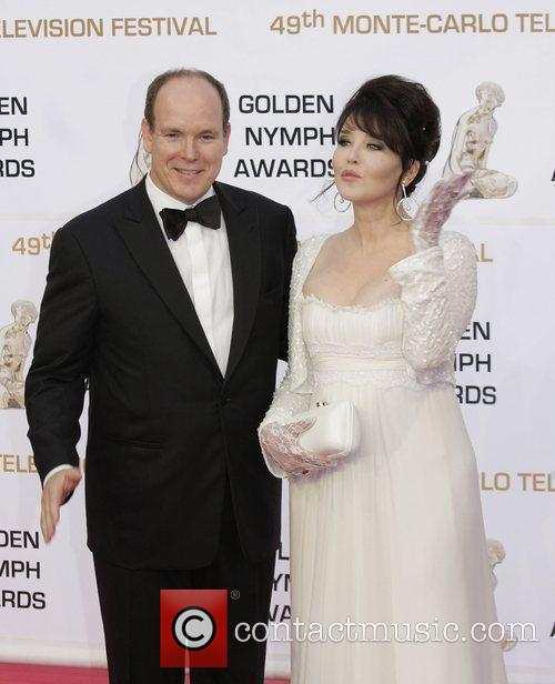 Isabelle Adjani and Prince Albert of Monaco Monte...