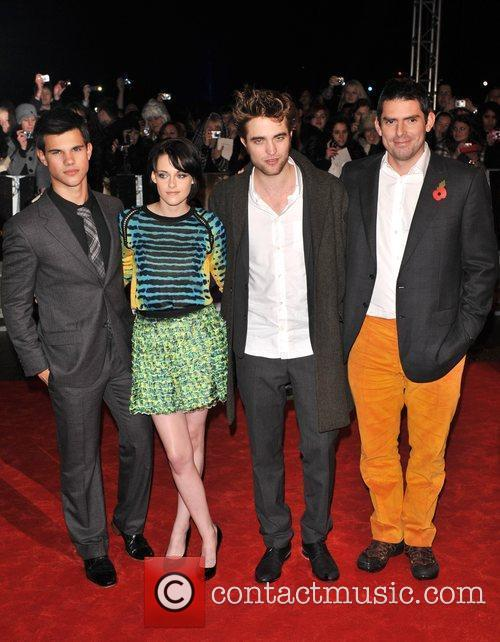 Robert Pattinson, Kristen Stewart, Taylor Lautner, Director Chris...