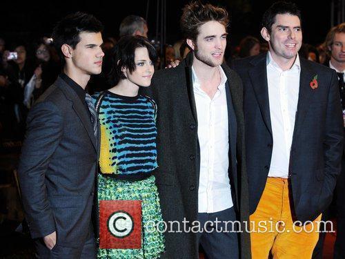 Taylor Lautner, Kristen Stewart, Robert Pattinson and Chris...