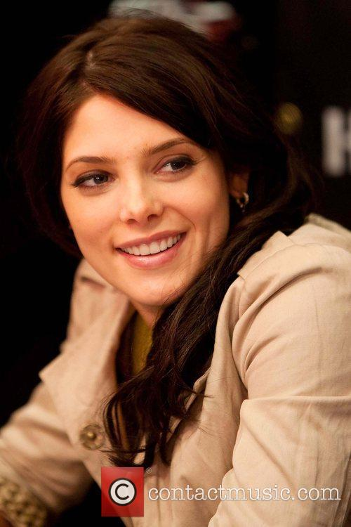 Ashley Greene meets and signs autographs at the...