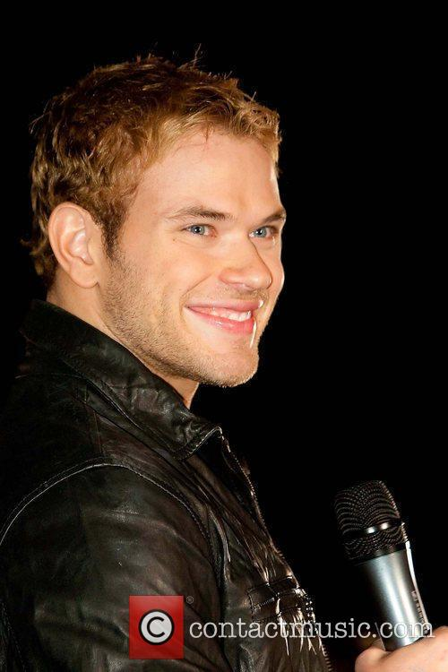 Kellan Lutz meets and signs autographs at the...