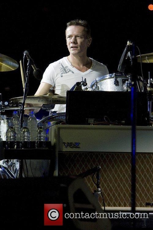 Larry Mullen, Jr. U2 performing live in concert...