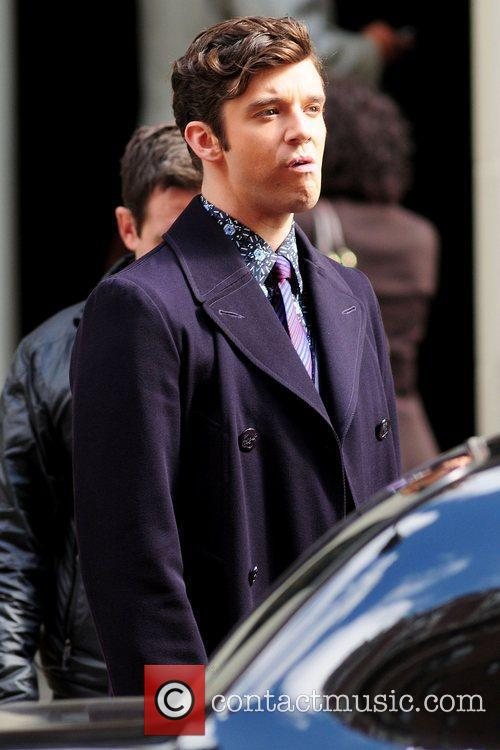 Michael Urie on the set of 'Ugly Betty'...