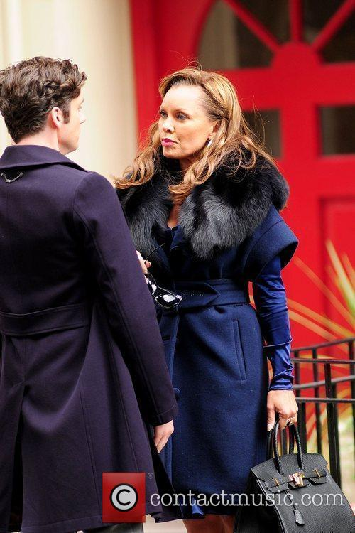 Michael Urie and Vanessa Williams on the set...