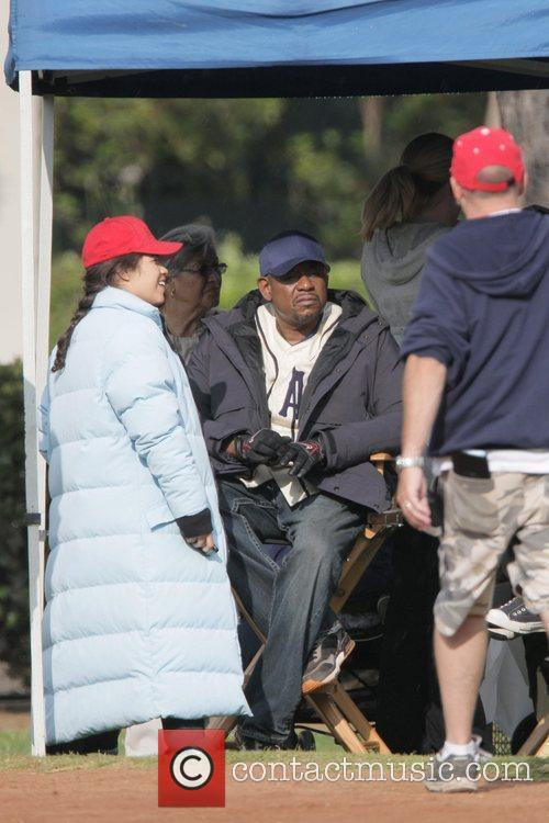 America Ferrera chats with Forest Whitaker during a...