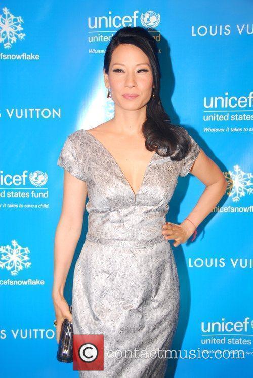 Lucy Liu The lighting of the UNICEF Snowflake...