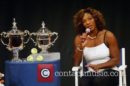 US Open Champion Serena Williams attends the 2009...