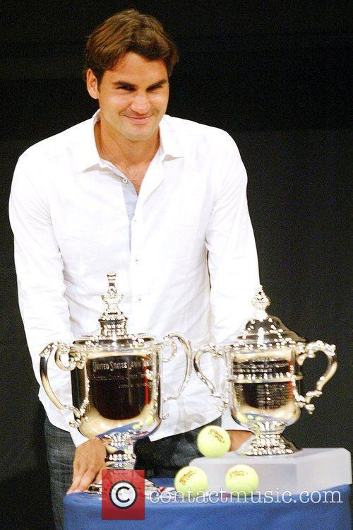 Us Open Champion Roger Federer Attends The 2009 Us Open Tennis Draw Ceremony 6