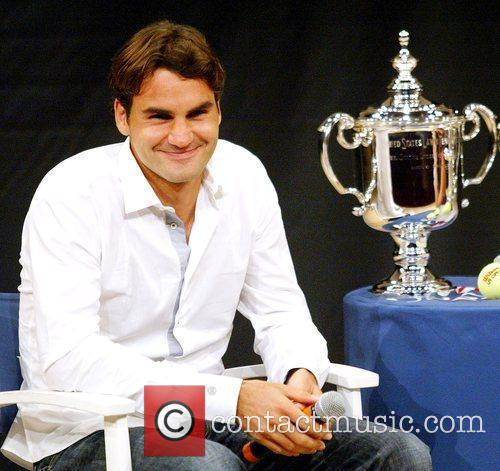 Us Open Champion Roger Federer Attends The 2009 Us Open Tennis Draw Ceremony 4