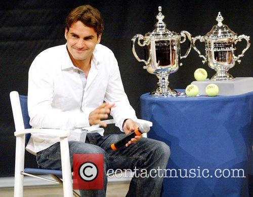 Us Open Champion Roger Federer Attends The 2009 Us Open Tennis Draw Ceremony 8