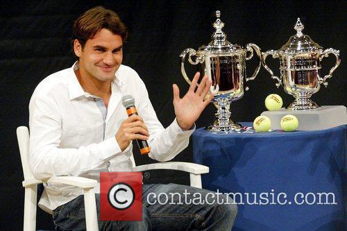 Us Open Champion Roger Federer Attends The 2009 Us Open Tennis Draw Ceremony 5