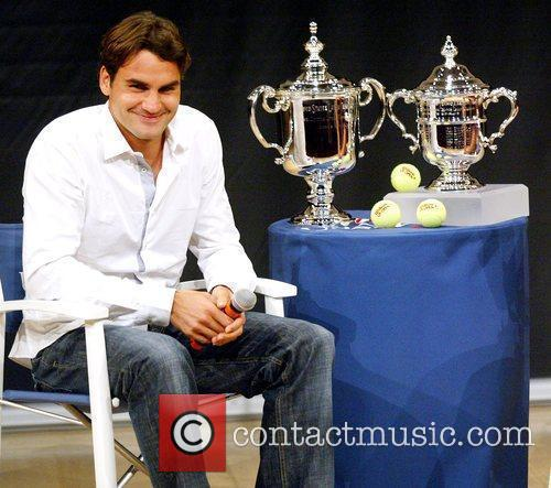 Us Open Champion Roger Federer Attends The 2009 Us Open Tennis Draw Ceremony 3