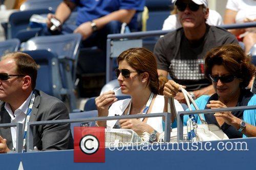 Roger Federer's wife Mirka Vavrinec 2009 US Tennis...