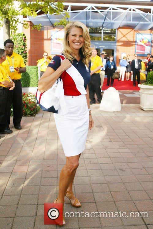 Christie Brinkley 2009 US Tennis Open - Day...