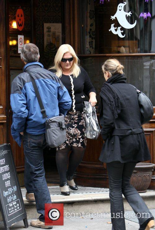 Vanessa Feltz leaving a pub in Central London...