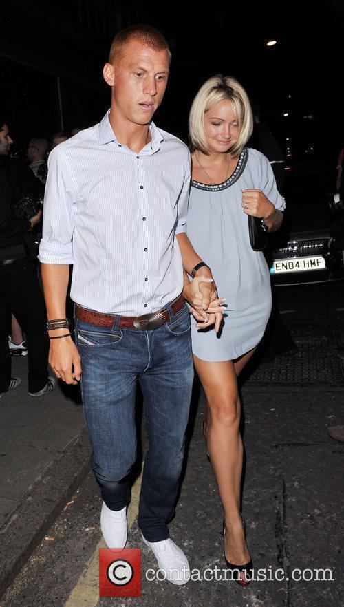 Arriving at Vanilla to celebrate Cheryl Cole's 26th...