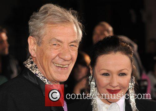 Sir Ian McKellen and Frances Barber Variety Club...