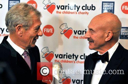 Sir Ian McKellen and Patrick Stewart Variety Club...