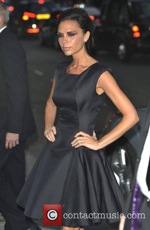 Victoria Beckham heading to the Burberry Closing Party...
