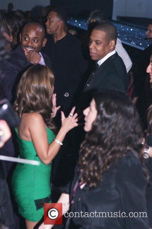 Adrienne Bailon and Jay-Z Victoria's Secret Fashion Show...