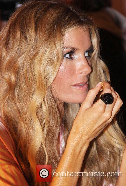 Marisa Miller Victoria's Secret Fashion Show backstage in...