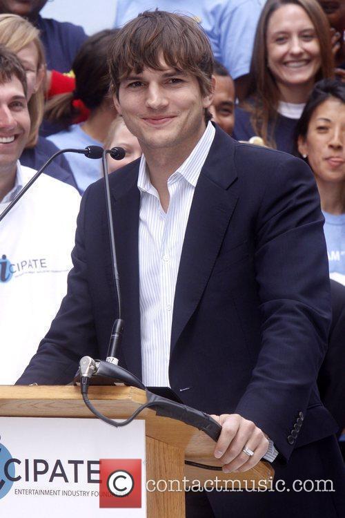 Ashton Kutcher Celebrities kick off two major initiatives,...