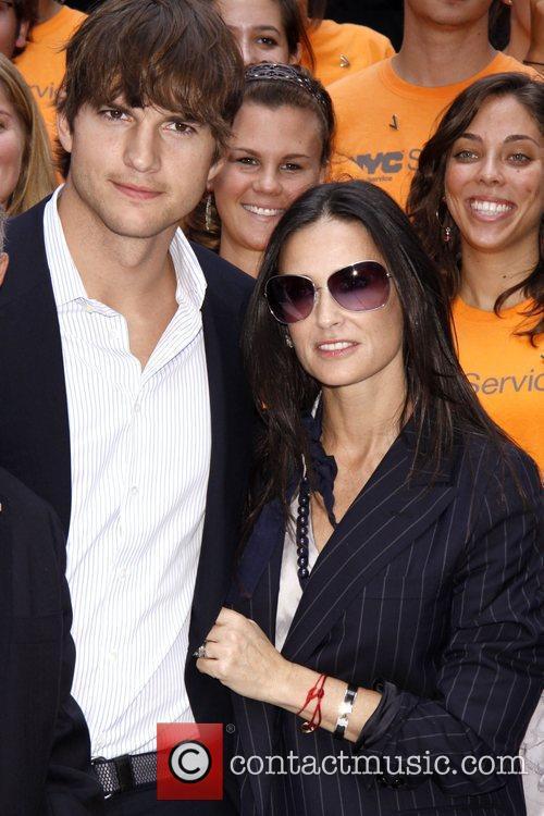 Ashton Kutcher and Demi Moore Celebrities kick off...