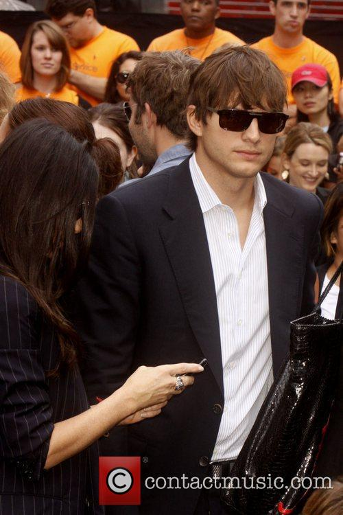 Demi Moore and Ashton Kutcher Celebrities kick off...