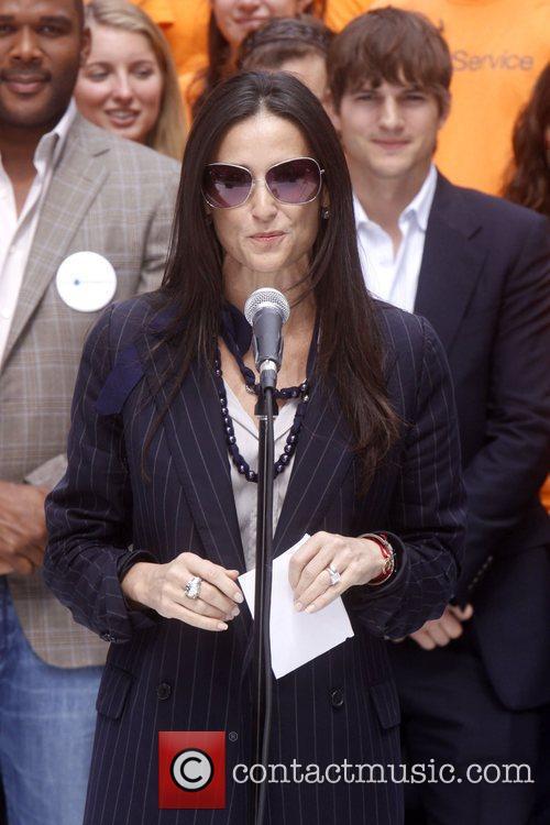 Demi Moore Celebrities kick off two major initiatives,...