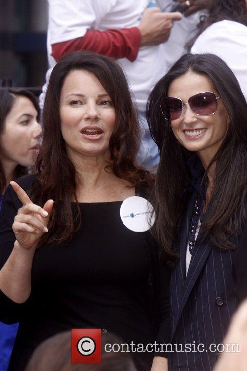 Fran Drescher and Demi Moore Celebrities kick off...