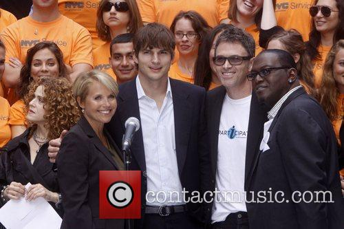 Katie Couric, Ashton Kutcher and Tim Daly 2