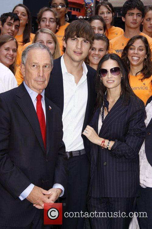 Mayor Michael Bloomberg, Ashton Kutcher and Demi Moore...