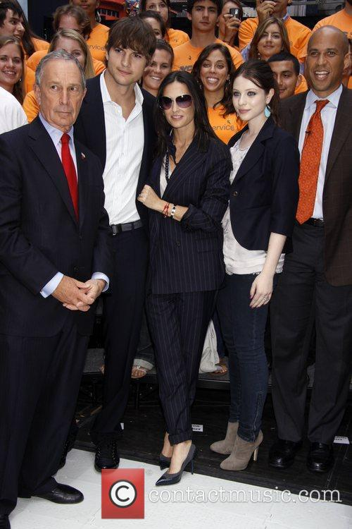 Mayor Michael Bloomberg, Ashton Kutcher, Demi Moore and...