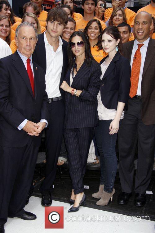 Michael Bloomberg, Ashton Kutcher and Demi Moore Celebrities...