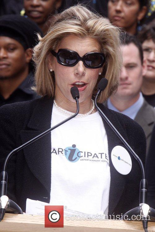 Christine Baranski Celebrities kick off two major initiatives,...