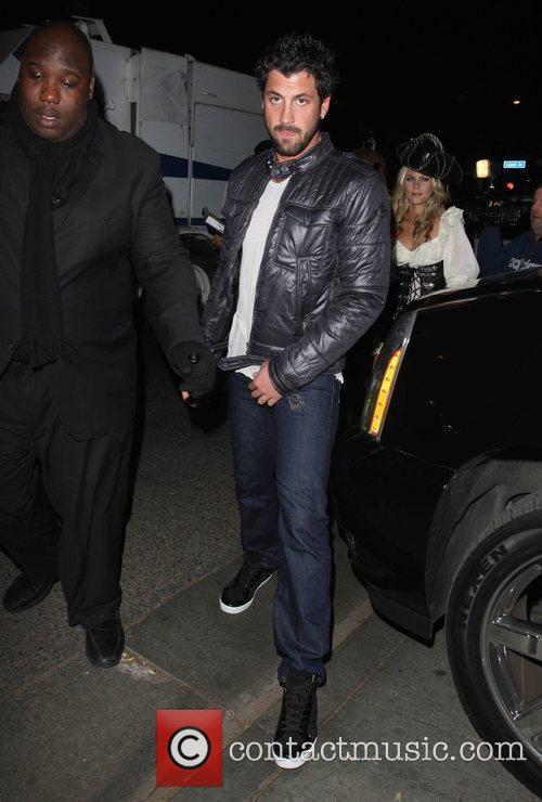 Maksim Chmerkovskiy outside Voyeur nightclub Los Angeles, California