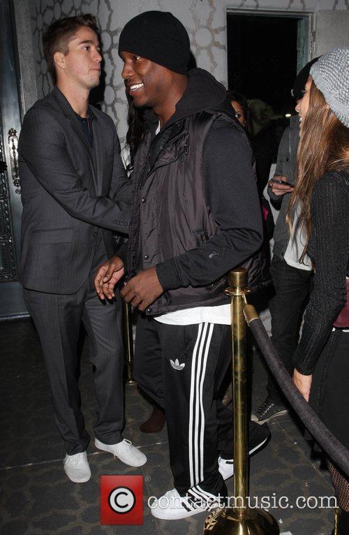 Tyrese Gibson outside Voyeur nightclub Los Angeles, California