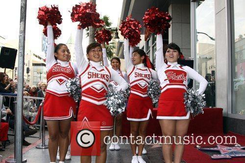 Hollywood High School cheerleaders Judge Joseph A. Wapner...