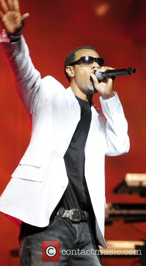 Reggae singer Wayne Wonder performing live at Reggae...