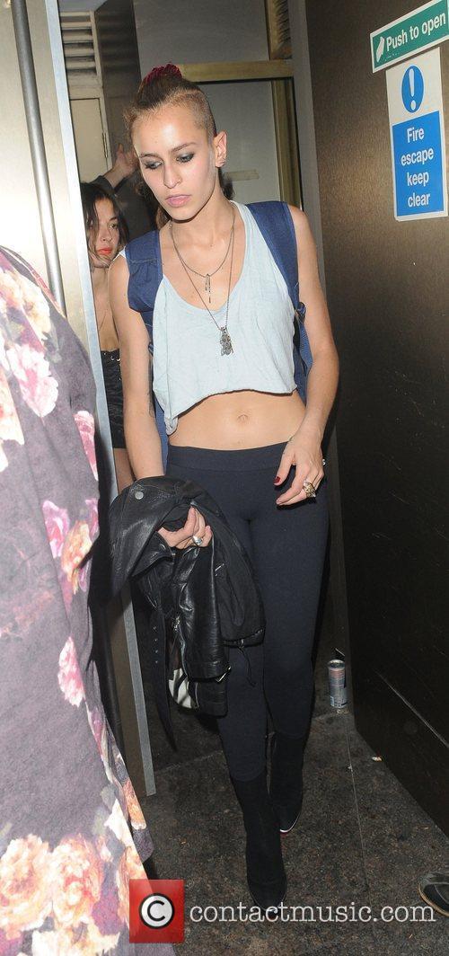 Alice Dellal leaving Whisky Mist nightclub London, England