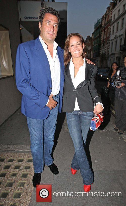 Tara Palmer Tompkinson and a friend outside Whisky...