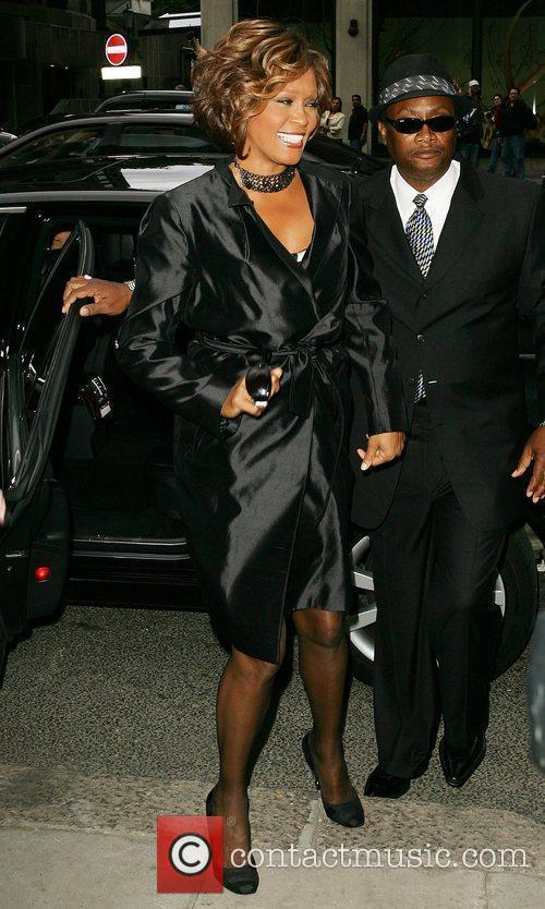 Whitney Houston arrives at a London hotel -...