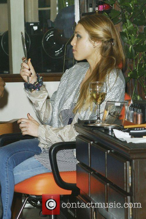 Visits TRUST salon in West Hollywood for a...