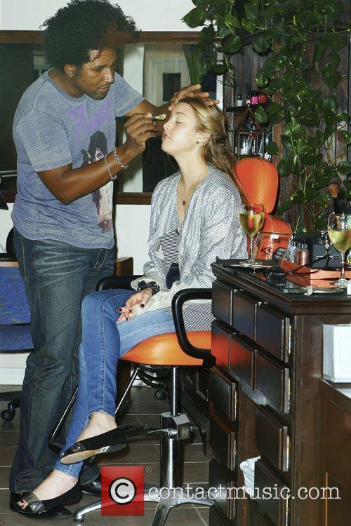 Whitney Port visits TRUST salon in West Hollywood...