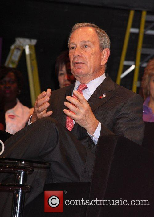 Mayor Michael Bloomberg during an interview with Whoopi...