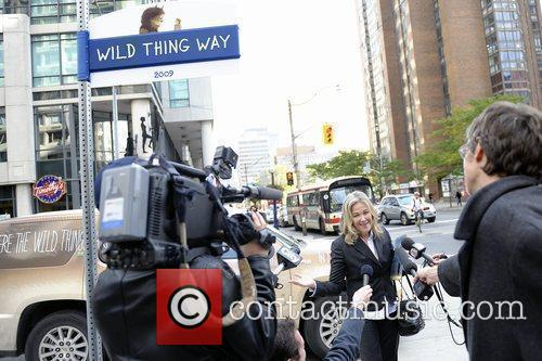 Catherine O'Hara unveils the 'Wild Thing Way' street...