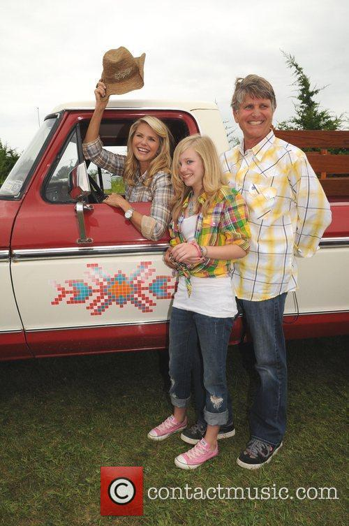 Supermodel Christie Brinkley with her brother and niece...