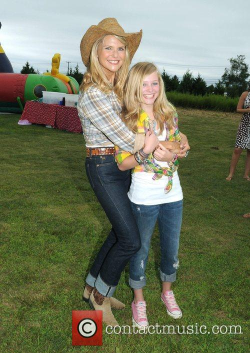 Supermodel Christie Brinkley with her niece Elliott The...