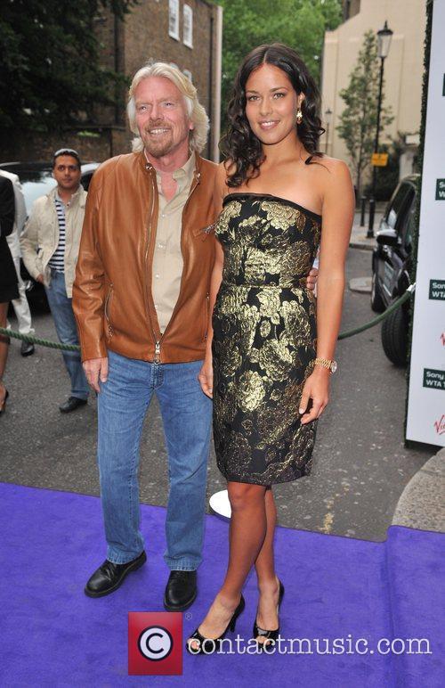 Richard Branson and Ana Ivanovic 1