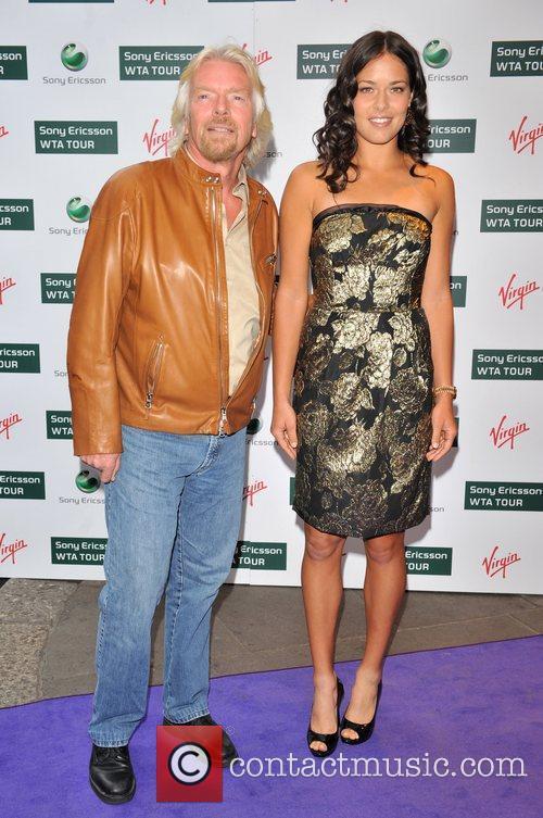 Richard Branson and Ana Ivanovic 2